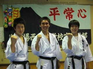 全日本出場の3人