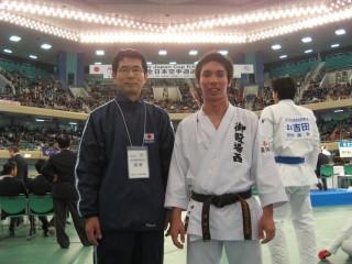 監督の菊池先生と須田芳広
